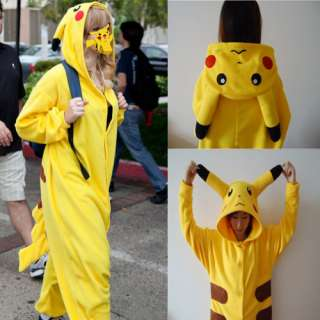 Hot Lovely Japan Anime Cartoon Pikachu One piece Performance Costume