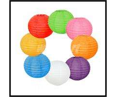 Lot 10 Japanese 8 Paper Lantern Lamp for Party Wedding