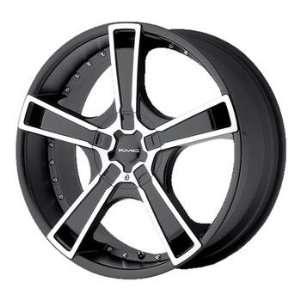 KMC KM663 18x8 Black Wheel / Rim 5x4.5 & 5x120 with a 42mm