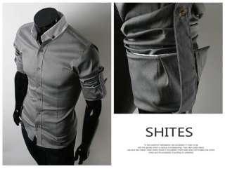 Mens Casual Slim Fit Stylish Dress Shirts 3Colours 6051