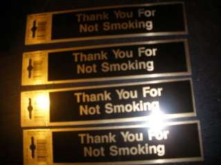 Thank You for Not No Smoking STICKERS decals sign USA