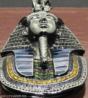 BLACK GOLD FINISH KING TUT HIP HOP BLING PENDANT P196