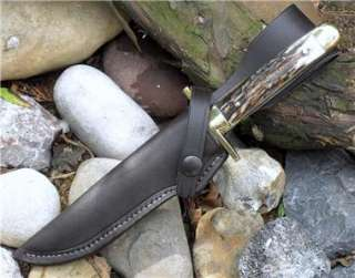 GEORGE WOSTENHOLM 10.5 IXL JIM BOWIE STAG HANDLE KNIFE