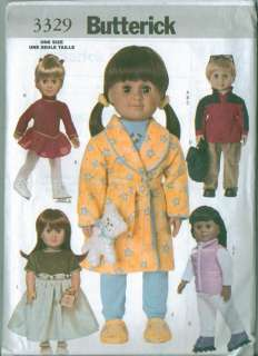 Butterick American Girl 18 Doll Clothes Sewing Pattern