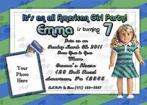 American Girl Birthday invitations + party favors