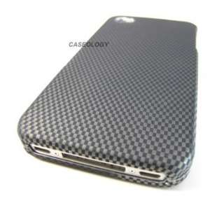 CARBON FIBER DESIGN HARD SNAP ON CASE COVER APPLE IPHONE 4 4s PHONE
