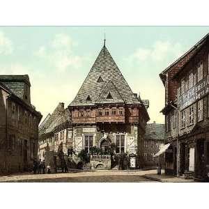 Vintage Travel Poster   Gewandhaus (Cloth Hall) Goslar Hartz Germany