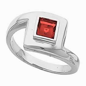 14K White Gold Chatham Created Ruby Ring Jewelry