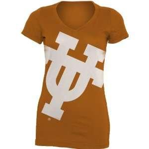 NCAA Texas Longhorns Gigantor Ladies V Neck Tee Shirt