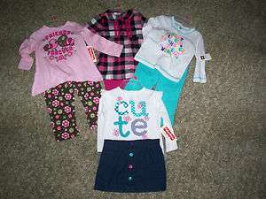 Infant Toddler Girls Outfit Matching Shirt Pants Skirt Leggings Sets