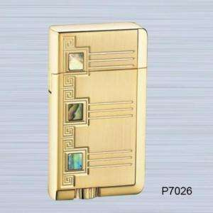 GOLD PLATED PEARL diamond cut JET TORCH LIGHTER