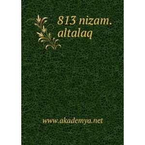 813 nizam.altalaq www.akademya.net Books