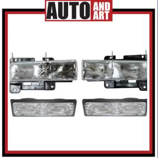 Set Headlight Signal Marker Light SAE DOT Chevrolet GMC Pickup Truck