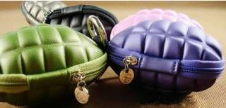 Lovey Grenade Style Key Coin Case Bag Purse   7 colors
