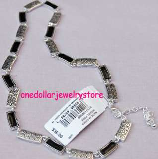 Vintage Napier short silver pattern necklace fashion jewelry vintage