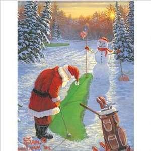 WeatherPrint 16028 Santas Game Outdoor Art   Sam Timm Size 44 x 32
