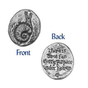 Green Girl Studios Pewter Snail Coin Pendant 23.2mm (1