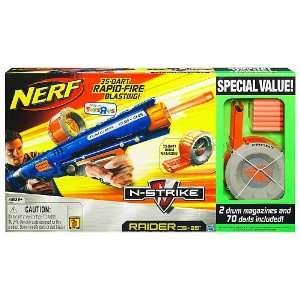 Nerf N Strike Raider Rapid Fire CS 35 Blaster Bonus Pack Toys & Games