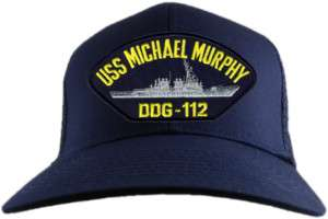 USS MICHAEL MURPHY NAVY SEAL DDG 12 MILITARY HAT CAP