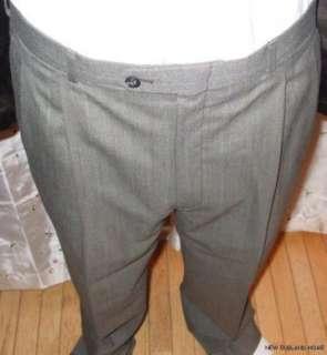 HALSTON Mens SUIT Grey Stripe 2 Piece JACKET PANTS L.SALE