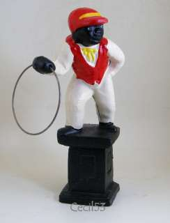 JOCKO BLACK LAWN JOCKEY DOOR STOP STATUE CAST IRON