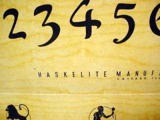 VINTAGE HASKELITE / HASKO MYSTIC TRAY/ WOODEN OUIJA BOARD SPIRITS