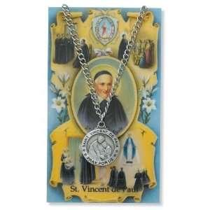 Gift Set PSD600VDP St. Saint Vincent De Paul Prayer Card Set Jewelry