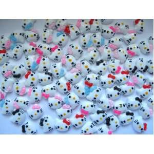 Nail Art 3d 60 Pieces Mix Color Hello Kitty Head for Nails, Cellphones