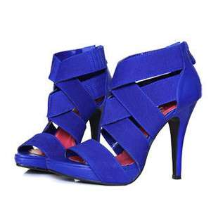 Fashions lady open toe cut out high heels shoes sandals