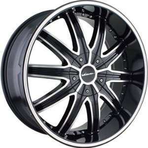 Veloche Tork 22x9.5 Black Wheel / Rim 6x5.5 with a 18mm Offset and a