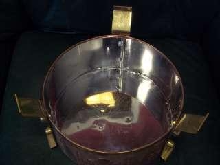 LOT of 40 Hindu Copper Finish Bowls + Large Kettle Pot