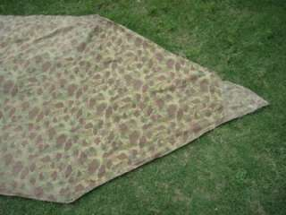 AUTHENTIC WWII 1944 USMC DESERT & JUNGLE CAMOUFLAGE TENT SHELTER HALF