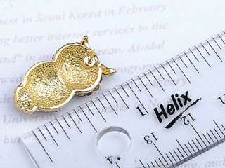Elegant Beautiful Ruby Topaz Crystal Rhinestone Big Eyed Owl Stud