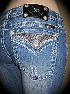 CRYSTALS & CHAINS JEANS JP6045B SIZE 30 ~ NEW  ~ HOT DESIGN