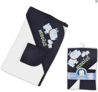 New Gerber Hooded Towel and Washcloth Set