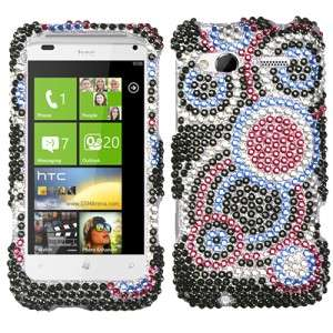 For HTC Radar 4G T Mobile Crystal Diamond BLING Hard Case Phone Cover
