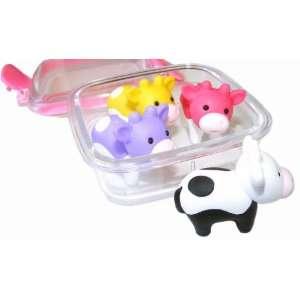 Iwako Japanese Erasers In A Mini Bento Box   Cows Toys & Games