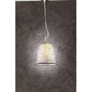 PLC Lighting 1104/CFL Ascot Nickel Mini Pendant