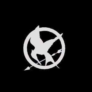 Hunger Games Mockingjay Symbol Car Window Decal Sticker Metallic