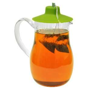 Primula Iced Tea Pitcher with Tea Bag Buddy, Green, 1L