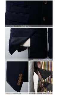 Bros Mens Premium 2  Button Cotton Slim jacket Blazer BLUE / NAVY