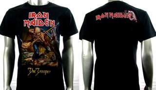 Iron Maiden Heavy Metal Rock Biker Punk T shirt Sz XL Rider Men