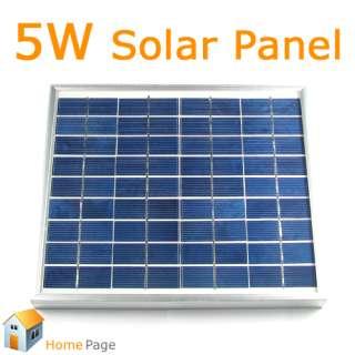 Watt 5W 12V Solar Power Panel Board Maximum 21V Waterproof Battery