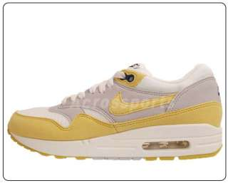 Nike Wmns Air Max 1 Sail Grey Yellow 2012 New Womens Casual Shoes 90