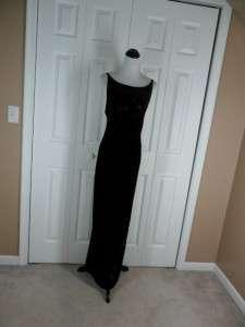 Zum Zum Niki Lumas Black VELVET 11 12 Prom Dress Gown