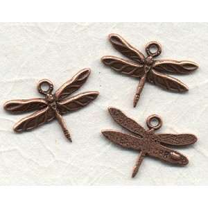 Solid Copper Dragonfly Charm Arts, Crafts & Sewing