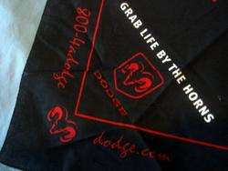 Dodge Ram Bandana Black & Red Grab Life By The Horns