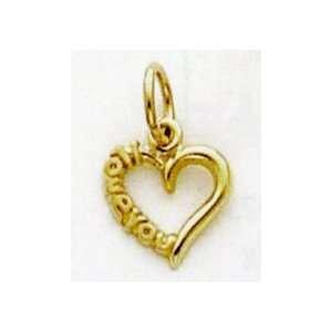 Love Heart Charm   C2170 Jewelry