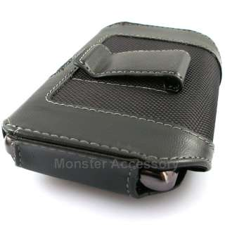 Black Leather Pouch VC2BK Holster Case Belt Clip Motorola Electrify US