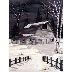 Winters Frost Poster by Lisa Kennedy (12.00 x 16.00): Home